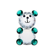 New Crystal Cut Glass Animal Figurines Bear Collectibles Wedding Gift Ornaments
