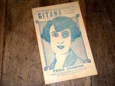 Gitana recueil de 5 chansons pour chant seul 1925 Paula Chabran