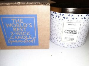 BRAND NEW Bath and Body Works Scented 14.5 oz 3-Wick Candle Endless Weekend