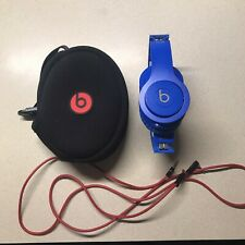 Beats by Dr. Dre Blue Solo HD On the Ear Wired Headphones w/ Case and Cord