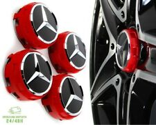 4 Tappi Coprimozzo per Mercedes AMG Classe A B C CLA CLS Cerchi in Lega 75mm