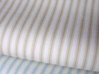 Pastel fine Ticking stripe style print 100% COTTON FABRIC dress craft bunting