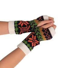 Fashion Knitted Arm Fingerless Winter Womens Soft Gloves Unisex Soft Warm Mitten