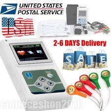 USA!! Newest 3-channel ECG/EKG Holter System/Recorder Monitor Analyzer Software