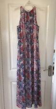 H&M Long Maxi Dress - Multi Colour Floral Print - High Neck Halter Size 10 BNWT