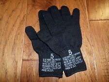 U.S MILITARY ISSUE D3A COLD WEATHER GLOVE LINERS 70% WOOL 30% NYLON SIZE 5 LARGE