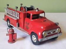 Early Tonka Toys Ford Cab SUBURBAN PUMPER FIRE TRUCK 50's V RARE NICE ORIGINAL