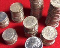 (5) Five 90% SILVER U.S. Coins Roosevelt Dime Lot pre-1965 Bullion *FREE COIN!*