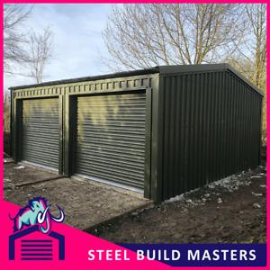 DOUBLE GARAGE (6m W x 6m L x 2.5m H) A MAMMOTH DESIGN BY STEEL BUILD MASTERS