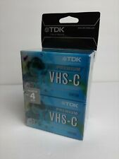 4 PACK NEW TDK VHS-C (TC-30HG) 30 MINS
