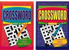 2 CROSSWORD BOOKS 334 PUZZLES 167 IN EACH A5 SIZE BOOKS 35 & 36 FREE P/P