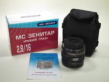"""Fish Eye"" MC Zenitar 2.8/16mm lens for Nikon mount, new design."
