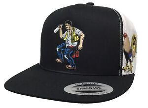 El borracho y su gallo mexico federal 2 logos hat black white chapo Guzmán