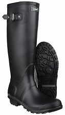 Cotswold Ladies Sandringham Buckled Welly Wellington Boot Black UK 4