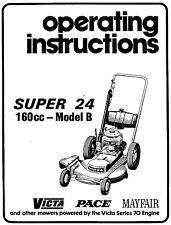 victa operating instruction super 24   model  B      reproduction