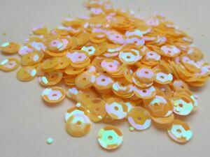 Pailletten Gelb irisierend gewölbt 6 mm, 15g, basteln, nähen Styropor Deko E13