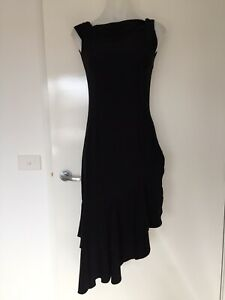Womens Black Dance Party Cocktail Dress Sleeveless Size 8