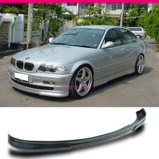 FIT FOR 99-01 BMW E46 3-SERIES 4DR SEDAN PU FRONT BUMPER LIP SPOILER URETHANE