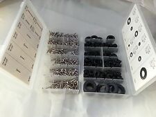 500pc STAINLESS STEEL SCREW & GROMMET ASSORTMENT CENTER DASH ELECTRICAL CONSOLE