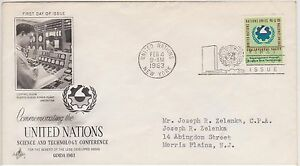 (USO-78) 1963 UN FDC 5c Science & Technology Conference (78BZ)