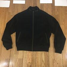 Peter Millar Mens XL Wool & Cashmere Jacket Coat Bomber Full Zip Up ( Small Rip)