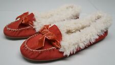 American Eagle Outfitters Womens 11 M Red Suede Leather Moccasins