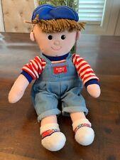 """Vintage Eden OshKosh B'Gosh Buddy 14"""" Plush Boy Doll W Hat RARE! HTF!"""