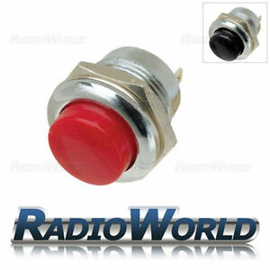 Push Button Switch 3A 250V off-(on) 1 Circuit Chrome
