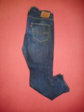 Levi Strauss 501 CT Leather Patch  Mens Blue Denim Jeans  W38 L32    X118