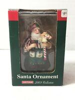 Christmas Collectible Ornament 2003 CRAFTSMAN SANTA Power Drill Hobby Horse
