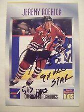 JEREMY ROENICK signed RARE 1995 SI Kids hockey card AUTO BLACKHAWKS Autographed