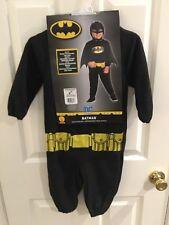 NEW Toddler DCJustice League BATMAN Halloween Dress Up Costume Sz. 2/4
