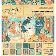 """Graphic45 Cafe Parisian Double-Sided Paper Pad 8""""X8"""" 24/Pkg Motivblock"""