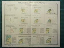 Mapa geográfico de las proyecciones de impresión de 1921 sterographic mercators cónica Lambert
