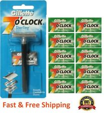 100 Gillette 7 o'clock Double Edge Razor Blades Classic Safety Refills Two Side