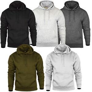 Mens Winter Pullover Hoodie Fleece Sweat Hooded Jumper Warm Hoody Jacket Top