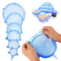 Silicone Fresh Cover Reusable Stretch Lids Food Keeping Fresh Sealing Cap 6/set
