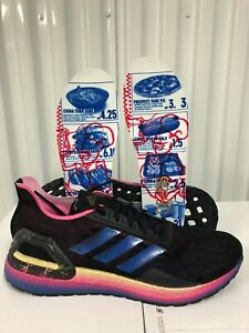 Adidas Ultraboost PB NEW YORK CITY MARATHON Blk Blue Gold 9 FW8900 Running Shoes