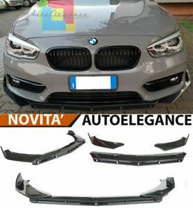 0076 BMW SERIE 1 F20 F21 LCI SPLITTER PARAURTI ANTERIORE NERO LUCIDO LOOK RS