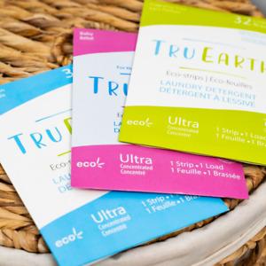 Tru Earth Laundry Eco-Strips / Detergent - 32 Washes - Zero Waste - Plastic Free