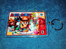 Nintendo 64 N64  MARIO PARTY 2  Box Cover Game Cartridge  Keychain New