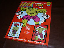 Vintage The Incredible Hulk Paint 'N Puff Set Avengers Rare Marvel MISB 1978