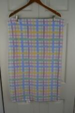 Plaid Baby Blanket White Pink Purple Green Yellow Blue RN 56457 Security Lovey
