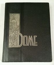 University of Notre Dame Fighting Irish The Dome 1931 Yearbook book-Knute Rockne