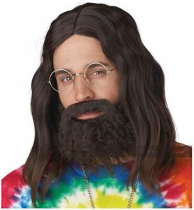 CALIFORNIA COSTUME ROLL IT UP WIG BEARD MOUSTACHE BROWN