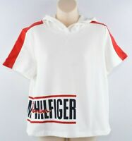 TOMMY HILFIGER Women's Sweatshirt Style Hooded Top, Off-White, size M