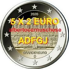 5 x 2 euro 2020 ADFGJ Germania Brandenburg Deutschland Allemagne Germany 德国