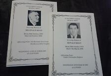 THE KRAYS FUNERAL BOOKLETS / ORDER OF SERVICES. RONNIE & REGGIE KRAY. LEGEND.