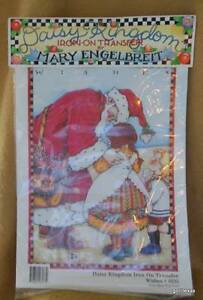 Mary Engelbreit Iron On Transfer Wishes 6533 Santa Christmas 1990