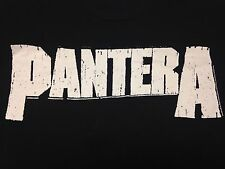 Pantera Black Medium T-Shirt Heavy Metal Rock Music Band